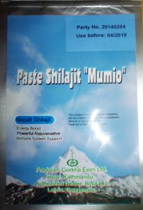 Паста мумио от Непал